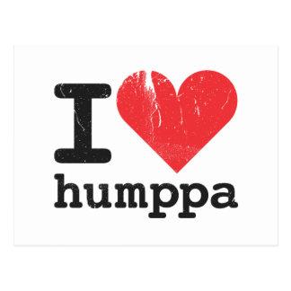 I love Humppa Postcard