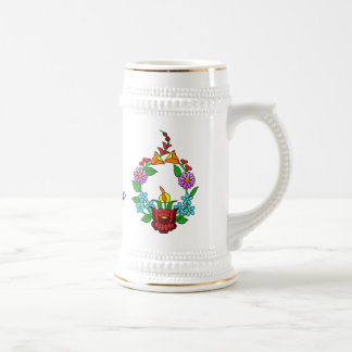 I love Hungary (Kalocsai) 18 Oz Beer Stein