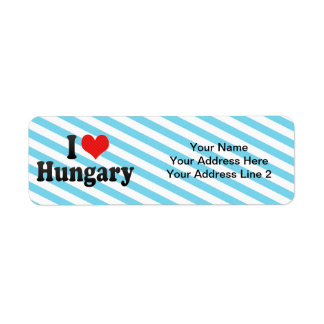 I Love Hungary Return Address Label