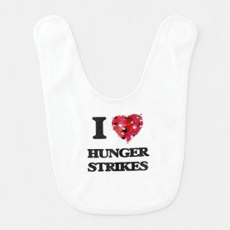 I Love Hunger Strikes Baby Bib