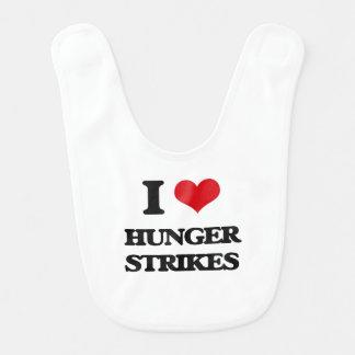 I love Hunger Strikes Baby Bibs
