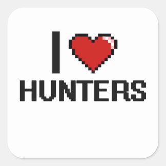 I love Hunters Square Sticker