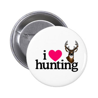 I Love Hunting Pinback Button