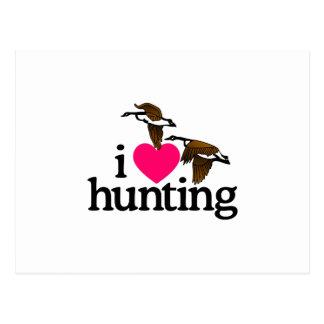 I LOVE HUNTING POSTCARD