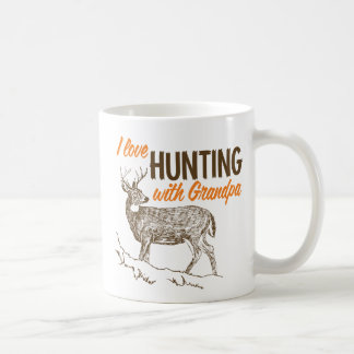 I Love Hunting with Grandpa Coffee Mug