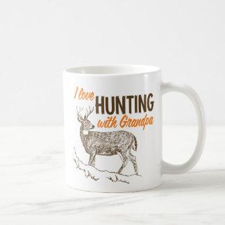 I Love Hunting with Grandpa Classic White Coffee Mug