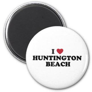 I Love Huntington Beach California 2 Inch Round Magnet