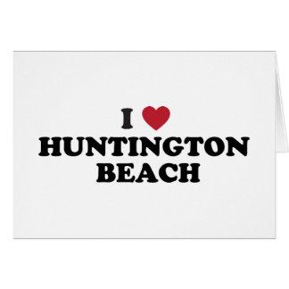 I Love Huntington Beach California Card