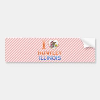 I Love Huntley, IL Bumper Stickers