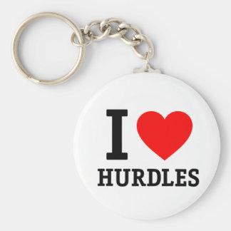 I Love Hurdles Keychain