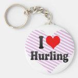 I love Hurling Key Chain