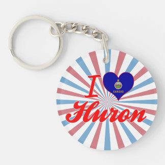 I Love Huron, Kansas Key Chain