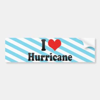 I Love Hurricane Car Bumper Sticker