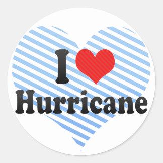 I Love Hurricane Classic Round Sticker