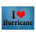 I Love Hurricane Greeting Card