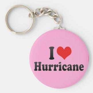 I Love Hurricane Keychain
