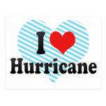 I Love Hurricane Post Card