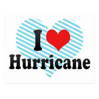 I Love Hurricane Postcard
