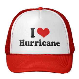 I Love Hurricane Trucker Hat