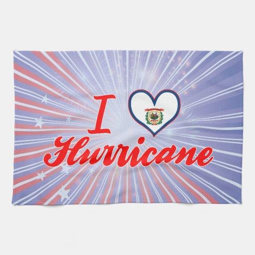 I Love Hurricane, West Virginia Kitchen Towels