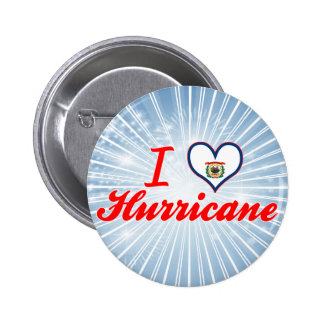I Love Hurricane, West Virginia Pinback Button