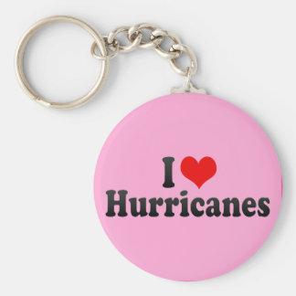 I Love Hurricanes Basic Round Button Keychain