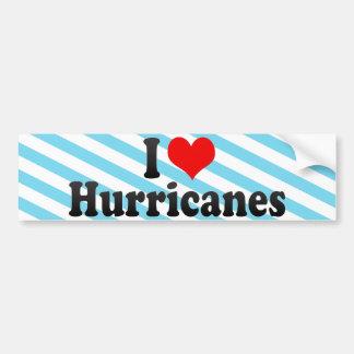 I Love Hurricanes Car Bumper Sticker
