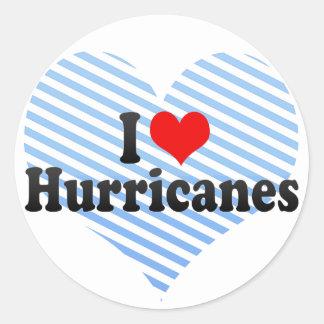 I Love Hurricanes Classic Round Sticker