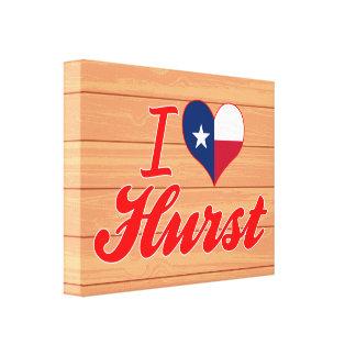 I Love Hurst, Texas Stretched Canvas Prints