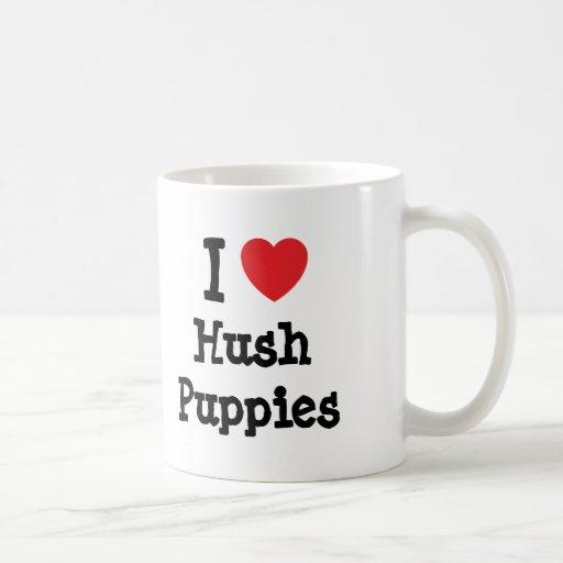 I love Hush Puppies heart T-Shirt Coffee Mugs
