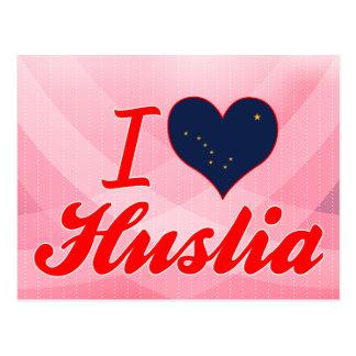 I Love Huslia, Alaska Post Card