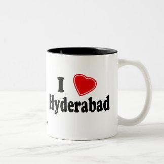 I Love Hyderabad Two-Tone Coffee Mug