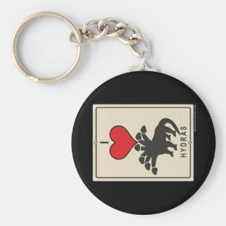 I Love Hydras Keychain