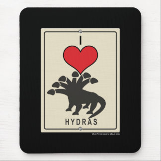 I Love Hydras Mouse Pad