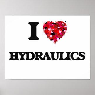 I Love Hydraulics Poster