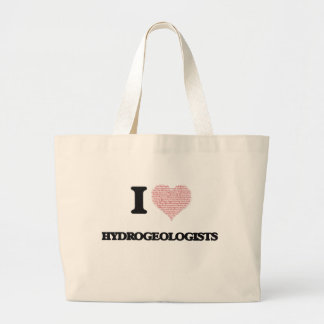 I love Hydrogeologists (Heart made from words) Jumbo Tote Bag