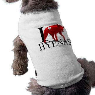 I Love Hyenas Doggie's Doggie Shirt