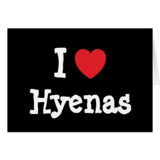 I love Hyenas heart custom personalized Card