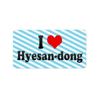 I Love Hyesan-dong Korea Address Label