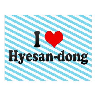 I Love Hyesan-dong Korea Postcard