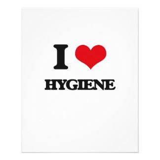 "I love Hygiene 4.5"" X 5.6"" Flyer"