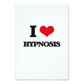 "I love Hypnosis 3.5"" X 5"" Invitation Card"