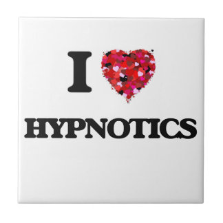 I Love Hypnotics Small Square Tile