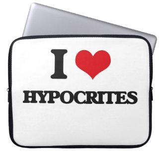 I love Hypocrites Laptop Sleeves