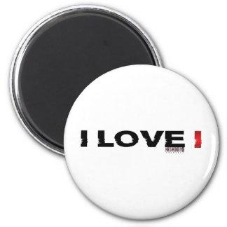 i love i 2 inch round magnet