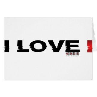 i love i greeting card