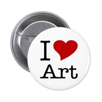 I Love (I Heart) Art Button