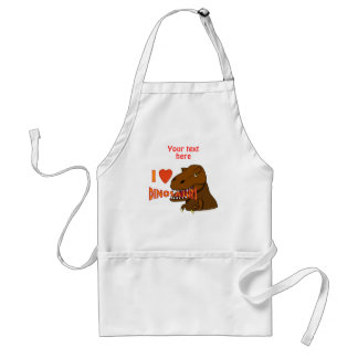 I Love I Heart Dinosaurs Cartoon Tyrranosaurus Rex Adult Apron