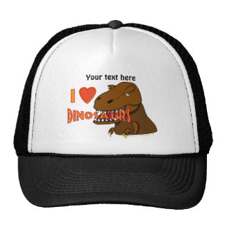 I Love I Heart Dinosaurs Cartoon Tyrranosaurus Rex Trucker Hat