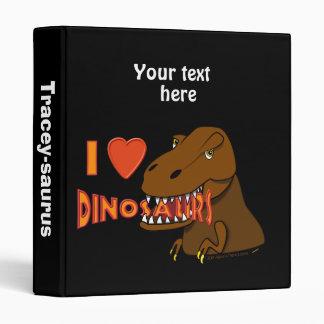 I Love I Heart Dinosaurs Cartoon Tyrranosaurus Rex Vinyl Binders